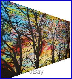 Art Painting Landscape Tree Forest Rainbow Abstract Canvas hand painted original
