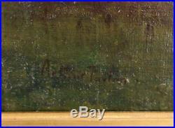 Arthur Parton (1842-1914) American Hudson River School Oil/Canvas Tonalist NY