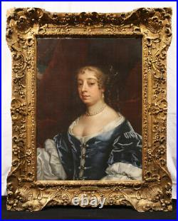 Attr. To Sir Peter Lely, 17th Century British Oil Painting Lady Middleton