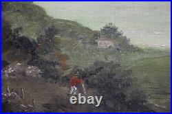 Australian Colonial oil painting Conrad Martens View of Vaucluse signed Martin