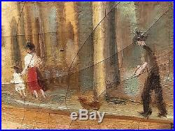 Ben Benn Original Oil On Loose Canvas Well Listed Early As Is C1930's