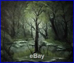 Backwoods Creek Bob Ross style original oil painting on canvas