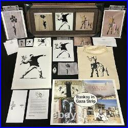 Banksy The Walled Off Hotel & Banksy Shop Canvas Art Print Tri Frame, Lot 16 NEW