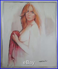 Barry LEIGHTON JONES Nude Female oil on canvas original painting Signed 36 x 30