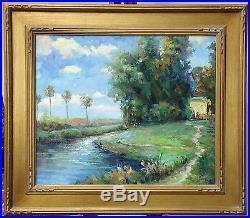 Bart Santa Barbara Original Oil Painting on Canvas Framed Fine Art OBO