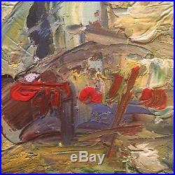 Bathing Man (male Nude) Original Impressionist Acrylic Impasto Painting On Canva