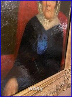 Beautiful Antique Oil Portrait of Older Woman