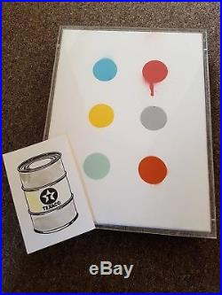 Beejoir Original 1/1 Imodium Spot Painting On Canvas Hirst DFace Invader Obey