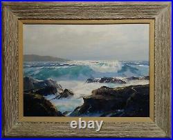Bennett Bradbury -Laguna Rocky Seascape-Beautiful California Oil painting