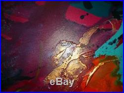 Big Bright Abstract Art Original Artwork Painting On Canvas By Caroline Ashwood