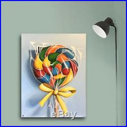 Big lollipop, Original large still Life acrylic painting on canvas J Palmer Art