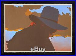 Bill Schenck Oil Painting On Canvas Original Signed Cowboy Portrait Billy Art