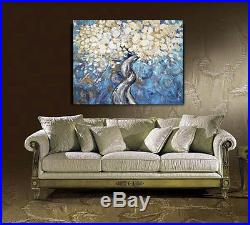 Blossomed Tree Original Palette Knife Oil Painting On Canvas By Spiros 28x36