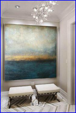 Blue Canvas Painting Abstract sea Marine Art Large acrylic Art Original Art Larg