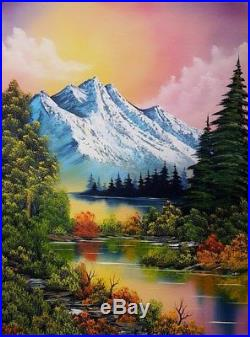 Bob Ross Paint with Original Oil Painting by seller on 18x24 canvas included