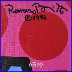 Britto 1992 Original Acrylic On Canvas Pop Art Painting