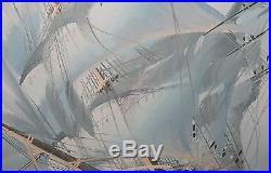 C. Million Sailing Ship Large Original Oil On Canvas Seascape Painting