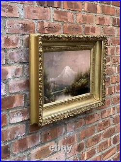 C1900 Mount Hood Landscape Painting By Oregon Artist Eliza Barchus. Signed