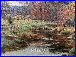 C1900 New England Impressionist Landscape Painting Signed William Merritt Post