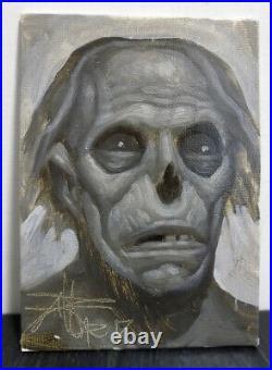 CHET ZAR Original Oil Painting Horror Zombie Monster Dark Art Pop Surrealism
