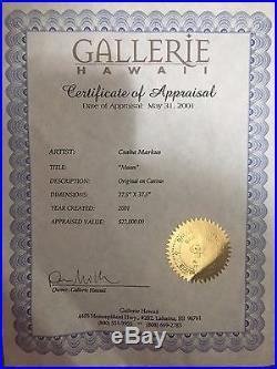 CSABA MARKUS MUSES art Original on canvas painting, framed. Appraisal $22,000