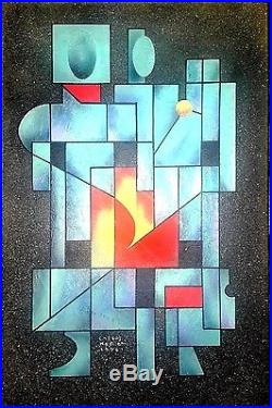 Carlos Merida Original -familia- Oil On Canvas Painting