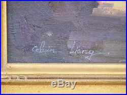 Carmel California Seascape Original CALVIN LIANG Framed Oil Painting on Canvas