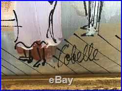 Charles Cobelle Original Oil Painting On Canvas Signed Nathans Famous Hot Dog