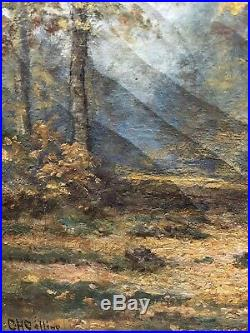Charles Collins (1851 1921) Original Oil On Canvas Wonderful Detail And Light