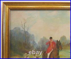 Charles Hepner Oil Painting 1952 Landscape Fox Hunting Berks County PA