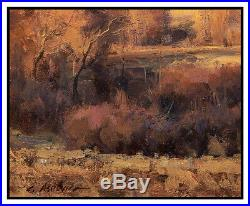 Clyde Aspevig Original Painting Oil On Canvas Board Signed Mountain Landscape