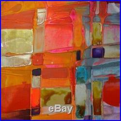 Contextual Abstract Art Original Artwork Painting Canvas By Caroline Ashwood