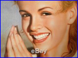 Custom Portrait Oil Painting from Photo Commission Original Art on Canvas 24x36