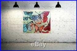 DAVID BROMLEY Butterflies Original Polymer & Gold Leaf on Canvas 120cm x 150cm