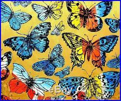 DAVID BROMLEY Butterflies Original Polymer & Gold Leaf on Canvas 150cm x 180cm