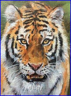 DAVID STRIBBLING, Original Oil on Canvas, TIGER, Signed
