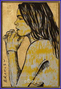 David Bromley 1960 Fine Original Acrylic Painting on Canvas Nude in Profile SFAA