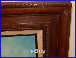 E. R. Caldwell Clipper Ship Vintage Original Oil On Canvas Seascape Painting