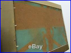 E. W Signed Painting Abstract Expressionism Pop Surrealism Nude Modernist Vintage