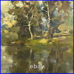 Early 20th Century Impressionist Landscape (Oil on Canvas)