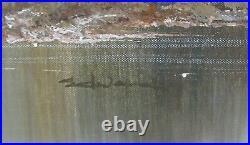 Edwards The Travaling Bob Ross Original Oil On Canvas Landscape Painting