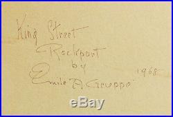Emile A Gruppe Original Oil Painting On Canvas Board Signed Rockport Landscape
