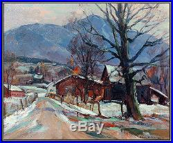 Emile Gruppe Original Oil Painting On Canvas Signed Landscape New England Art