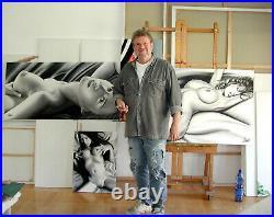 Erotic Art Nude Erotik Akt Original Gemälde Painting of Canvas Unikat, Kunst, Bild