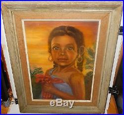 Esther Tallman Haitian Girl. Yolande Original Oil On Canvas Painting