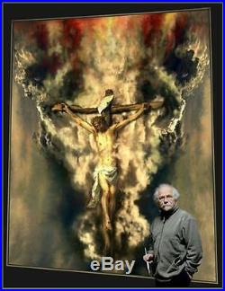 F. KULON JEZUS original oil on canvas