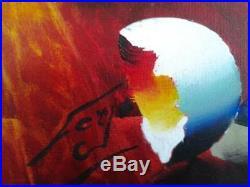 FERJO ORIGINAL OIL on CANVAS 24 X 20 SURREALISM Painting