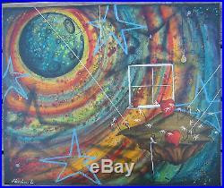 Fabio Napoleoni Dazzling Original Painting on Canvas Double Signed