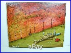 Fabio Napoleoni Original Acrylic Painting on Canvas Great Colors