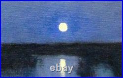 Featured Full Moon Impressionism Art Oil Painting Landscape Tonalist Realism